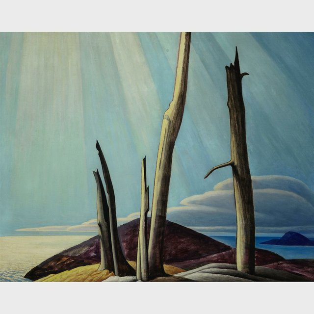 "Lawren Stewart Harris ""Lake Superior Painting"""