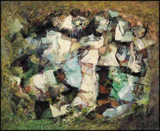 """Léon Bellefleur CAS PY QMG """"Les Alpilles"""" 1959"""