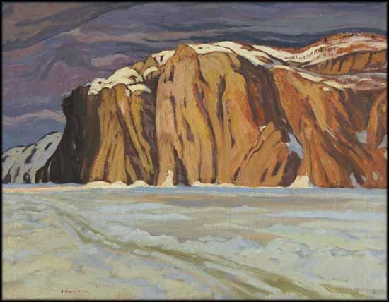 "Alexander Young (A.Y.) Jackson ALC CGP G7 OSA RCA RSA ""Mazinaw Lake, March, Bon Echo"" 1924"