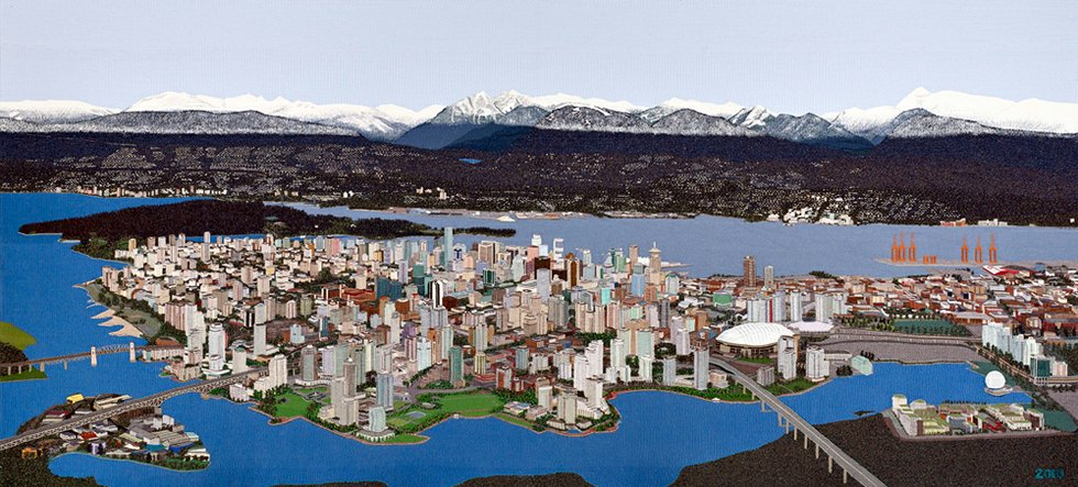 """Sola Fielding """"Vancouver Tapestry"""" 11.6' x 5.3 '"""