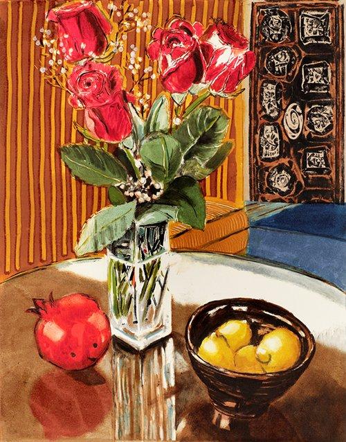 "Heather Aston ""Striped Roses"""