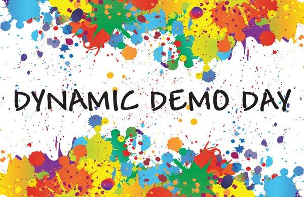 """Dynamic Demo Day"" poster"