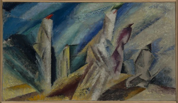 "Lyonel Feininger ""Bathers on the Beach"""