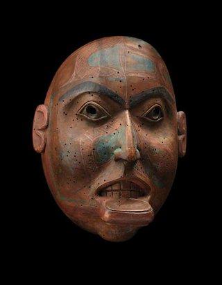 """Female portrait mask"""