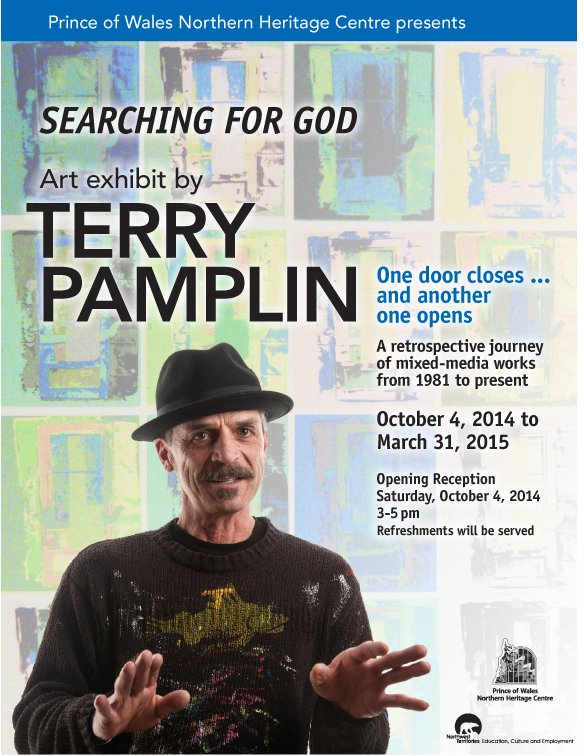 """Terry Pamplin exhibition poster"""