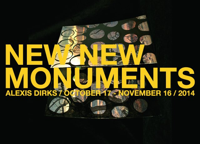 """""""New New Monuments"""" exhibition poster"""