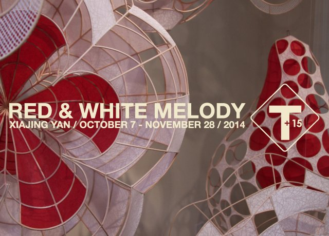 """""""Red and White Melody"""" exhibition poster"""