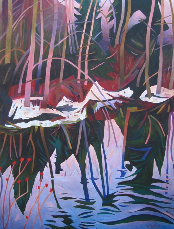 "Ted Seeberg, ""Winter River"""