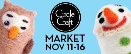 """""""41st annual Circle Craft Christmas Market poster"""""""