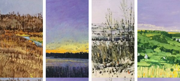"""""""Details From Four Paintings by Darrell Bell"""""""