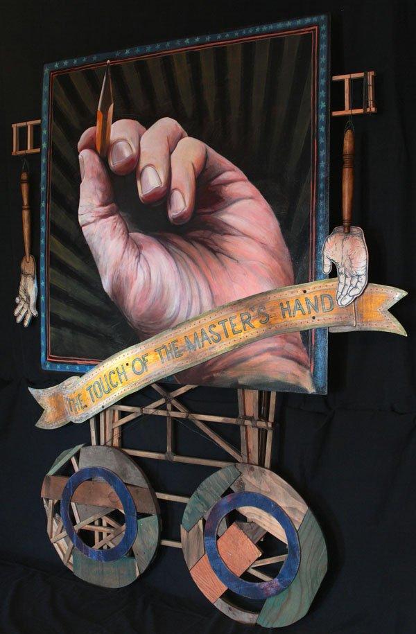 Johann Wessels, Side Show (detail), 2014, mixed-media