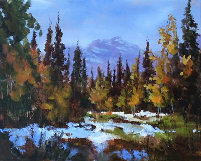 "From the show: Marla Blackwell's Alberta: ""Inspirational Paintings in Acrylic"""