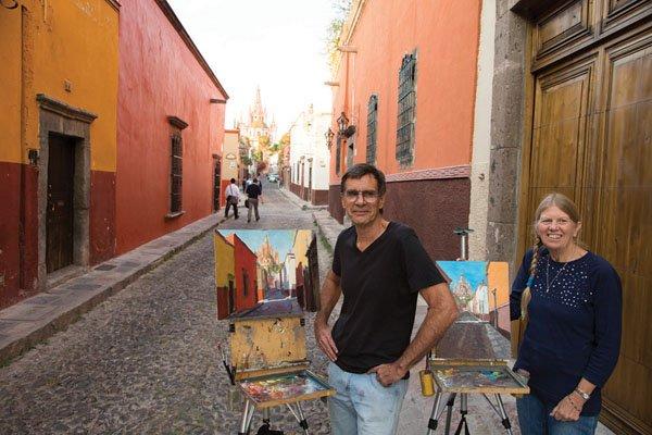 """Tom and Donna Dickson in San Miguel de Allende"""