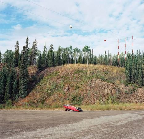 """Flipped Car, Klondike Highway"""