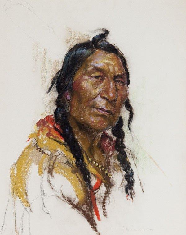 """Nicholas de Grandmaison """"Portrait of a Plains Indian"""""""