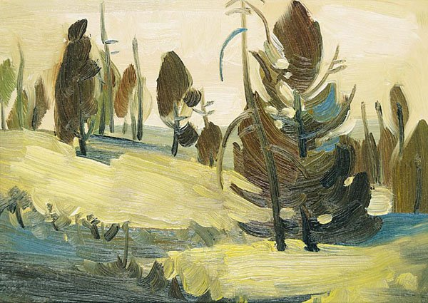 "LUKE ORTON LINDOE ""Untitled – Winter Forest"""