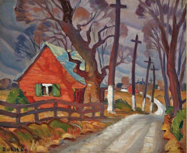 """JACK HAMILTON BUSH """"CÔTE ST. ROSE"""" 1934"""
