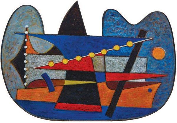 """SOREL ETROG """"HARBOUR AT NIGHT"""", 1953-4"""