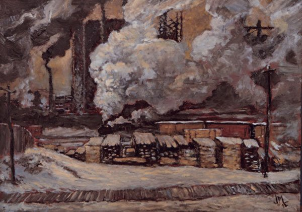 "JAMES EDWARD HERVEY MACDONALD, ""SKETCH FOR TRACKS AND TRAFFIC"" 1912"