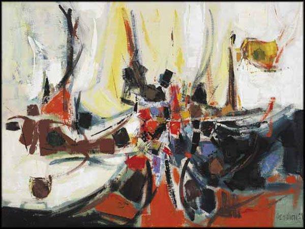 """PIERRE GENDRON """"Les dragons"""" #3, 1959"""
