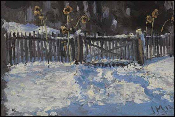 "JAMES EDWARD HERVEY (J.E.H.) MACDONALD ""Winter Study"" 1912"