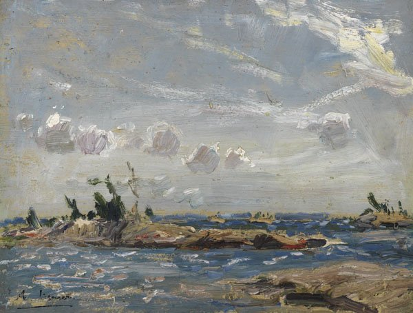 "ARTHUR LISMER ""Georgian Bay, Near MacCallum's Island"" 1916"