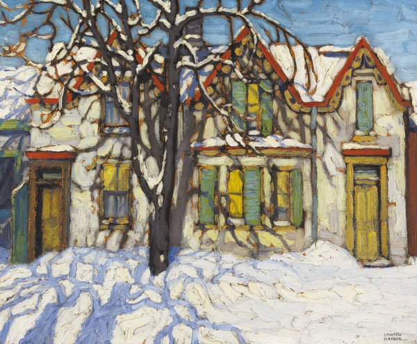 "LAWREN STEWART HARRIS ""Houses on Gerrard Street"" circa 1918"