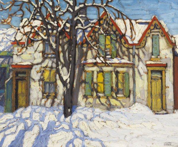 "LAWREN STEWART HARRIS ""Houses on Gerrard Street"" circa 1918"