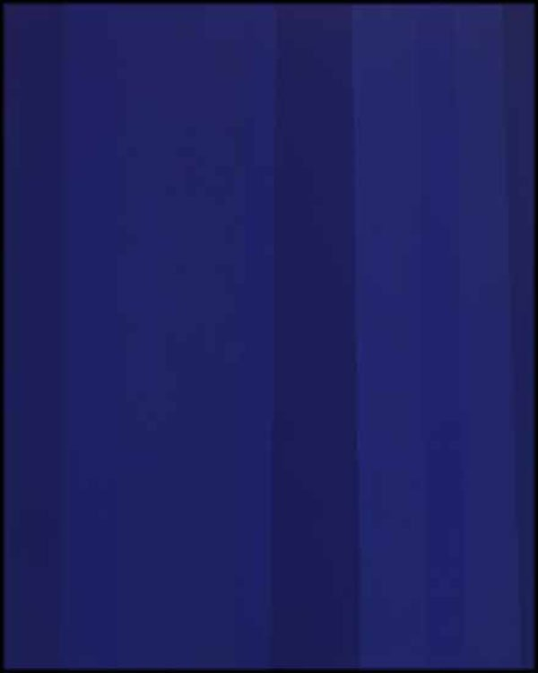 "GUIDO MOLINARI ""Quantificateur bleu"" January 1992, acrylic on canvas, 50"" x 40"""