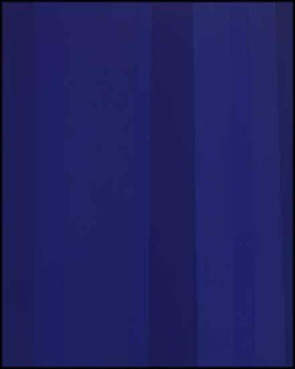 "GUIDO MOLINARI ""Quantificateur bleu"" January 1992, acrylic on canvas, 50"" x 40"""