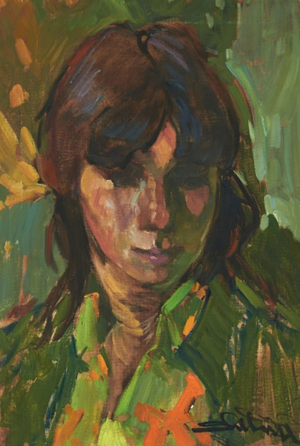 "ARTHUR SHILLING ""The Artist's Niece Margaret"" 1972"