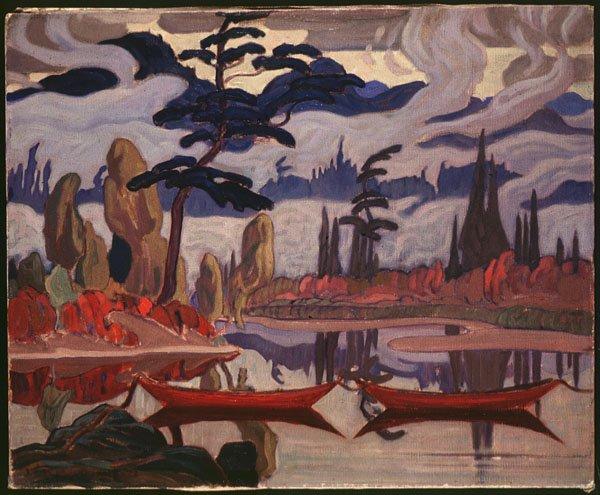 "J.E.H. MacDonald, ""Mist Fantasy, Northland"" 1922"