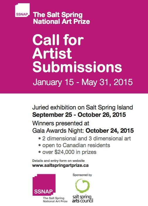 Call for Canadian Artist Submissions - The Salt Spring National Art