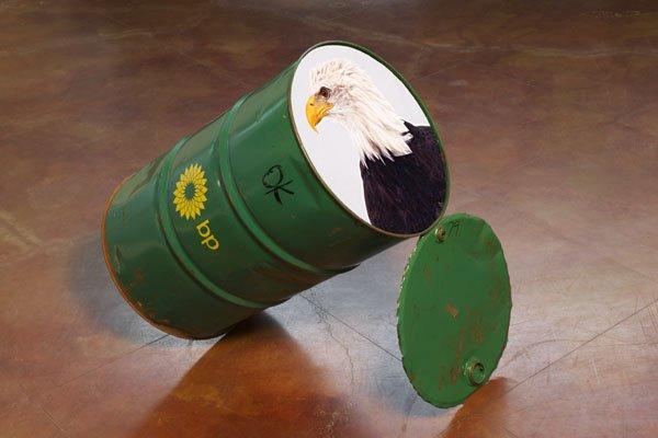 """Rebecca Belmore """"Eagle Drum"""" 2012"""