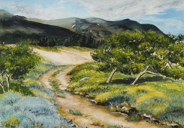 """""""Carcross Dunes"""", Jackie Ziehe, 1986"""