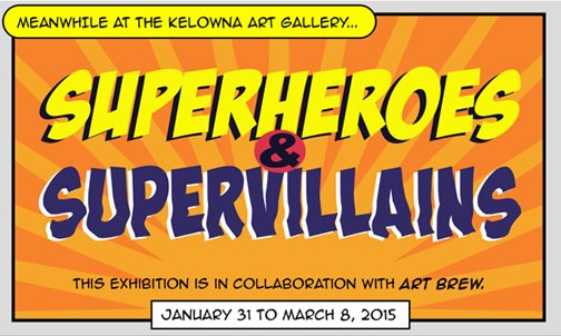 """Superheroes and Supervillains"" exhibition poster"