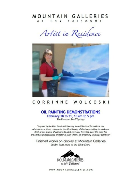 """""""Corrinne Wolcoski in residence poster"""""""