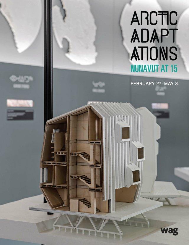 Detail of proposal with arctic balconies, Iqaluit, Arctic Adaptations; 2014