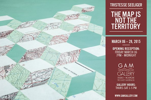 """""""The Map is Not the Territory"""" exhibition poster"""