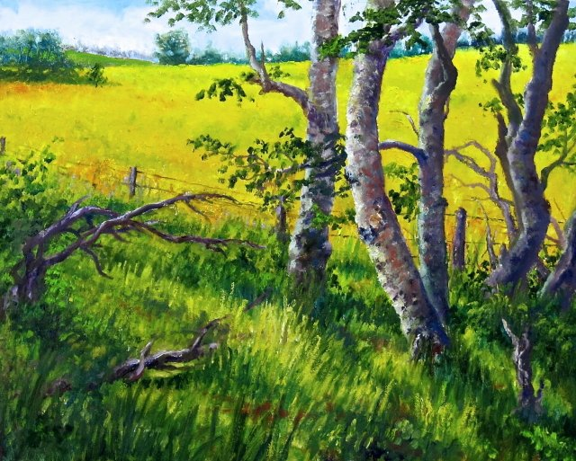 "Larry Reese ""Poplars and Canola"""