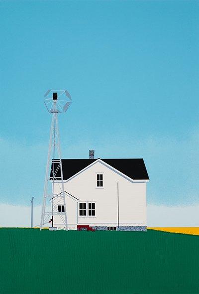 """David Thauberger, """"At Home"""", 1983"""