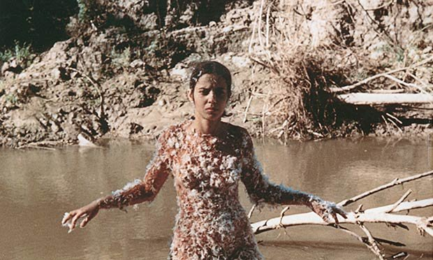 """Ana Mendieta """"Untitiled (Blood and Feathers), 1974"""