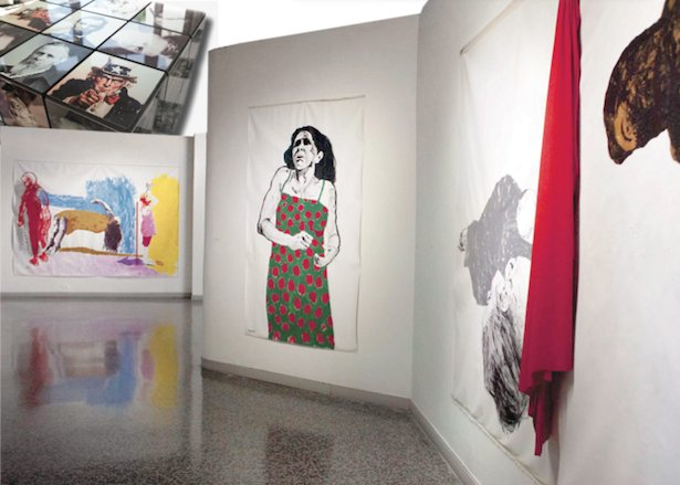 Santiago Rodriguez Olazábal installation and paintings