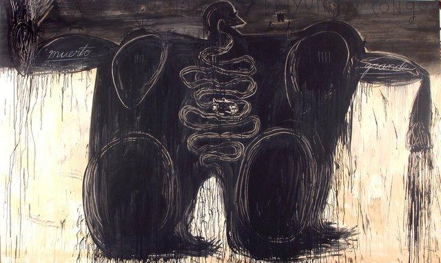 """José Bedia """"Muerto Grande"""" 1995"""