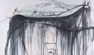 "José Bedia ""Firm Stride"" (Paso firme) 2001 Oil on canvas 70 3/4 x 120 in"