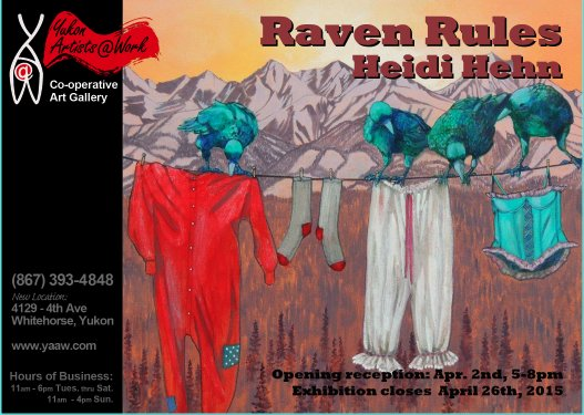 """Raven Rules"" exhibition poster"