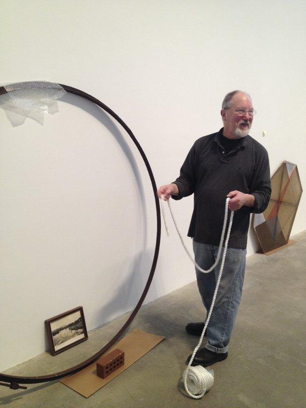 Tom Burrows at the Morris and Hele Belkin Art Gallery.