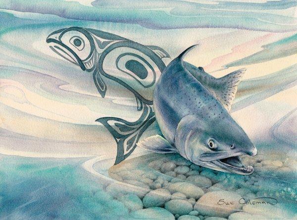 "Sue Coleman ""Salmon Stream"""