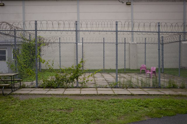 """Exercise yard built for female inmates, but never used"""