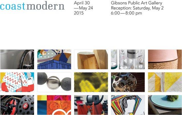 """Coast Modern"" exhibition poster"